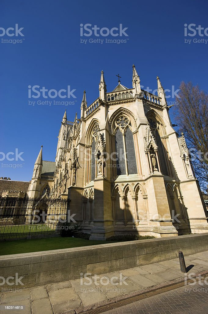 Rear view of the St John's College Chapel Cambridge stock photo