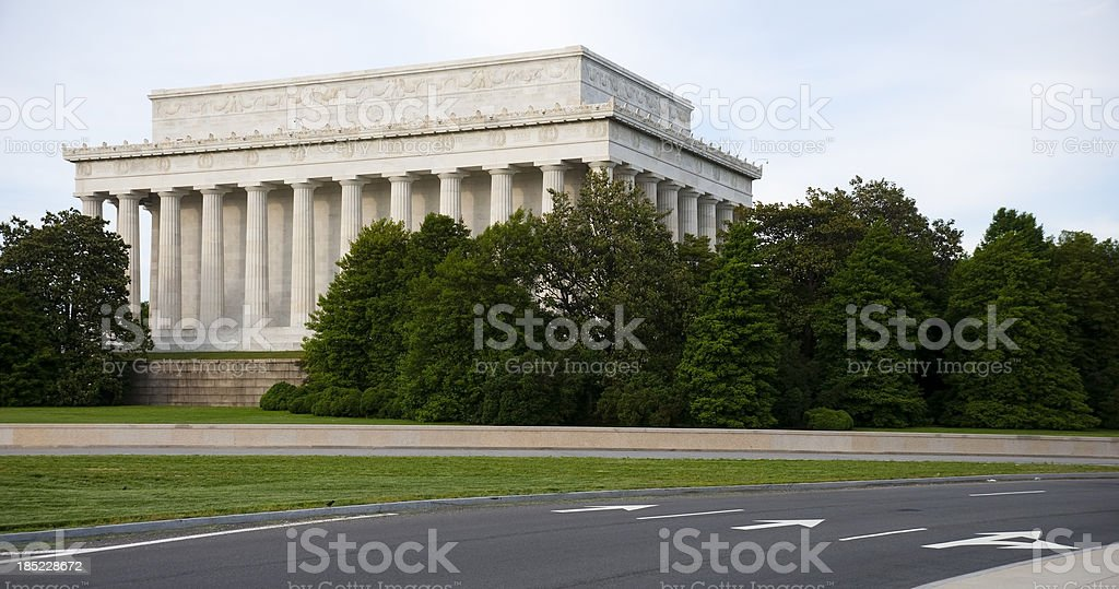 Lincoln Memorial rear view royalty-free stock photo