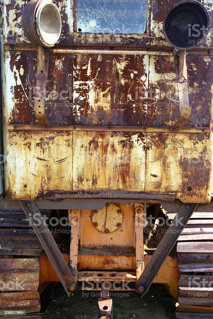 Rear view of tractor stock photo