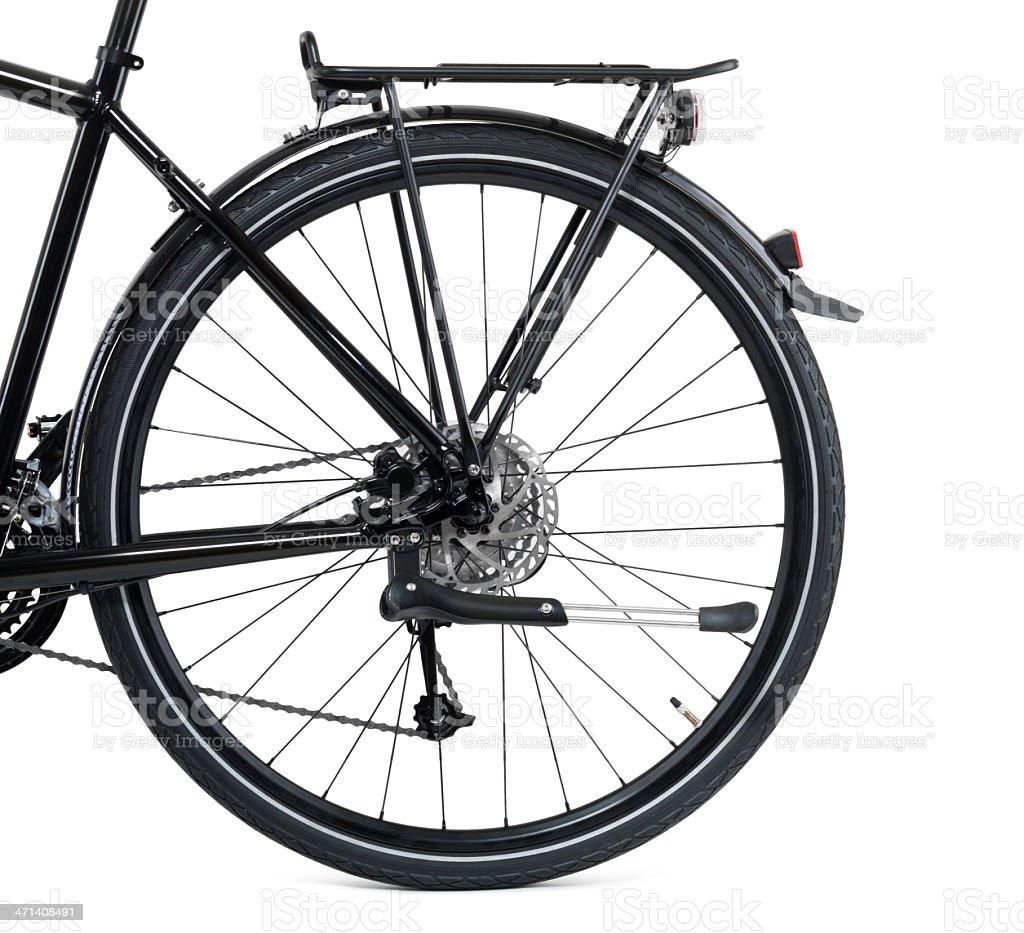 rear wheel of a city bike royalty-free stock photo