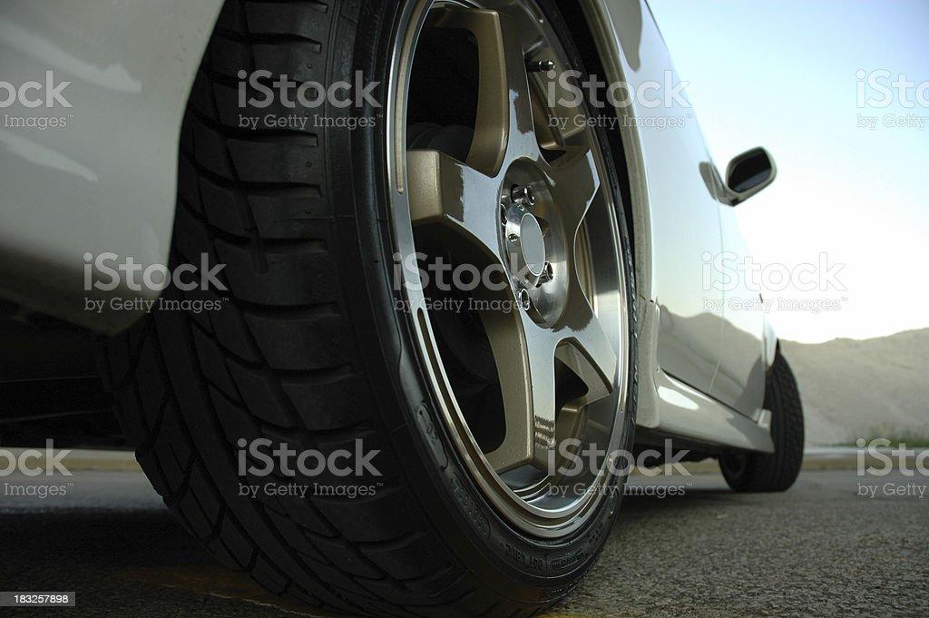 Rear Wheel - worm's eye view stock photo