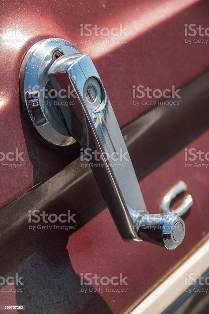 Rear Window Crank stock photo