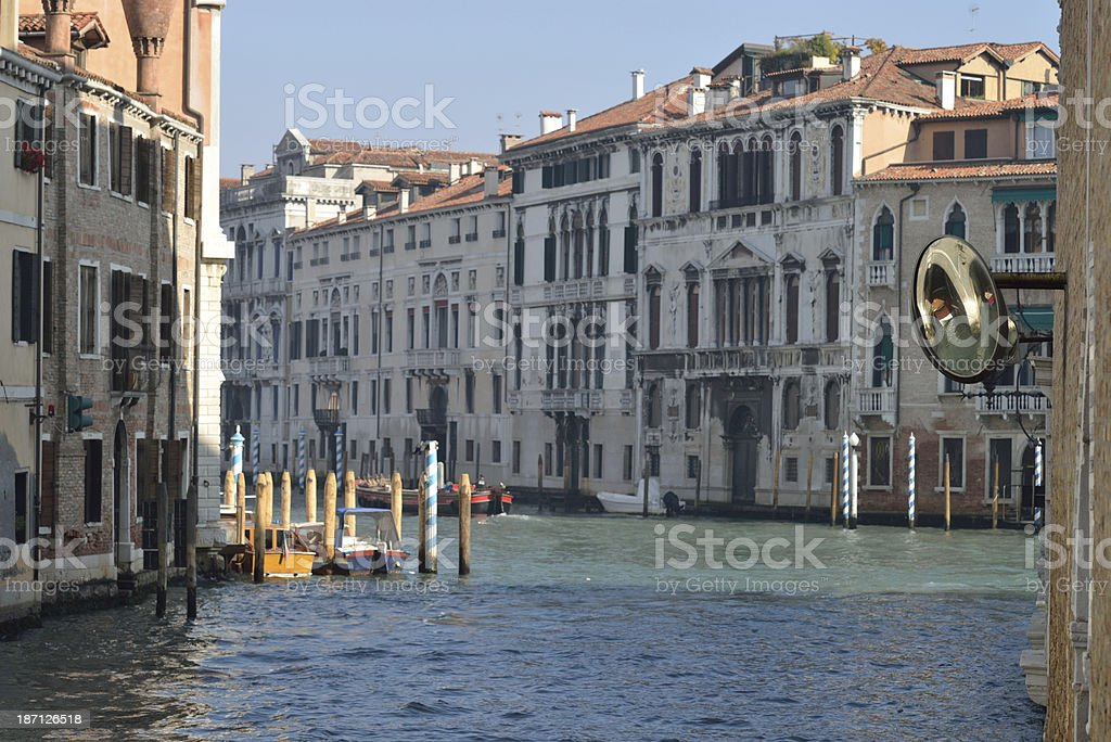 rearview mirror for boats in Venice royalty-free stock photo