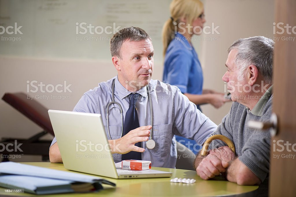 reassuring doctor royalty-free stock photo