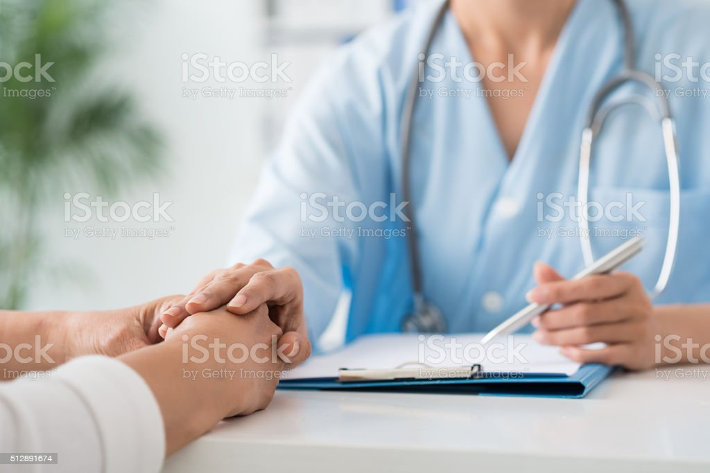 Reassuring patient stock photo