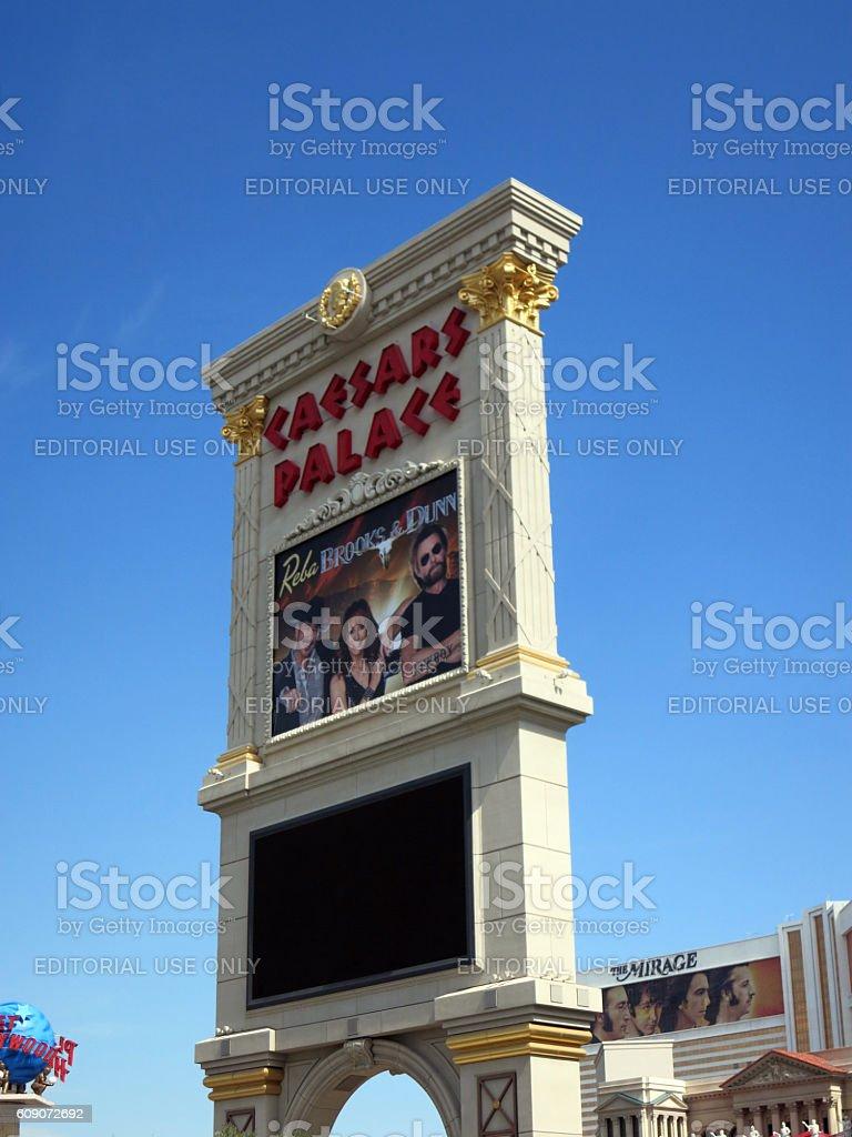 Reba Brooks and Dunn show poster at Ceasars palace hotel stock photo