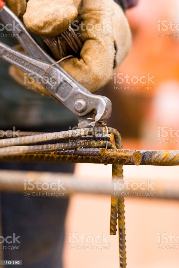 Rebar Bender stock photo