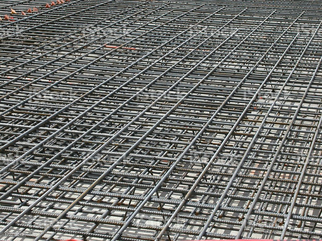 Re-bar Grid Background royalty-free stock photo