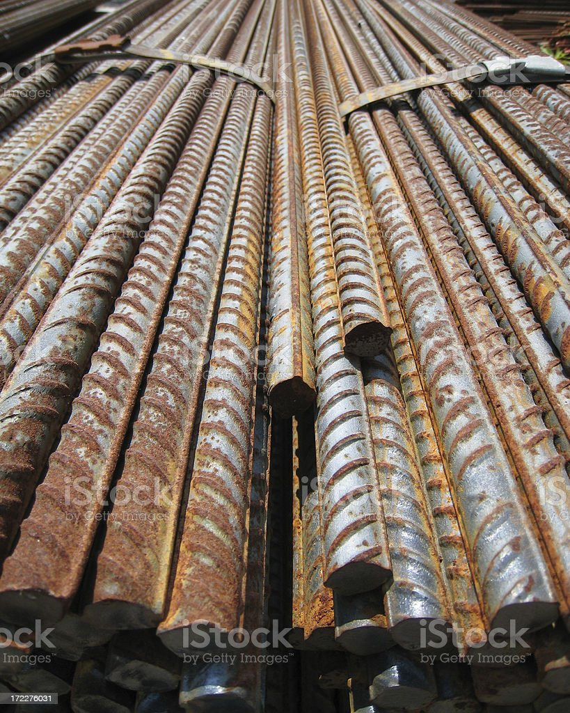 Rebar royalty-free stock photo