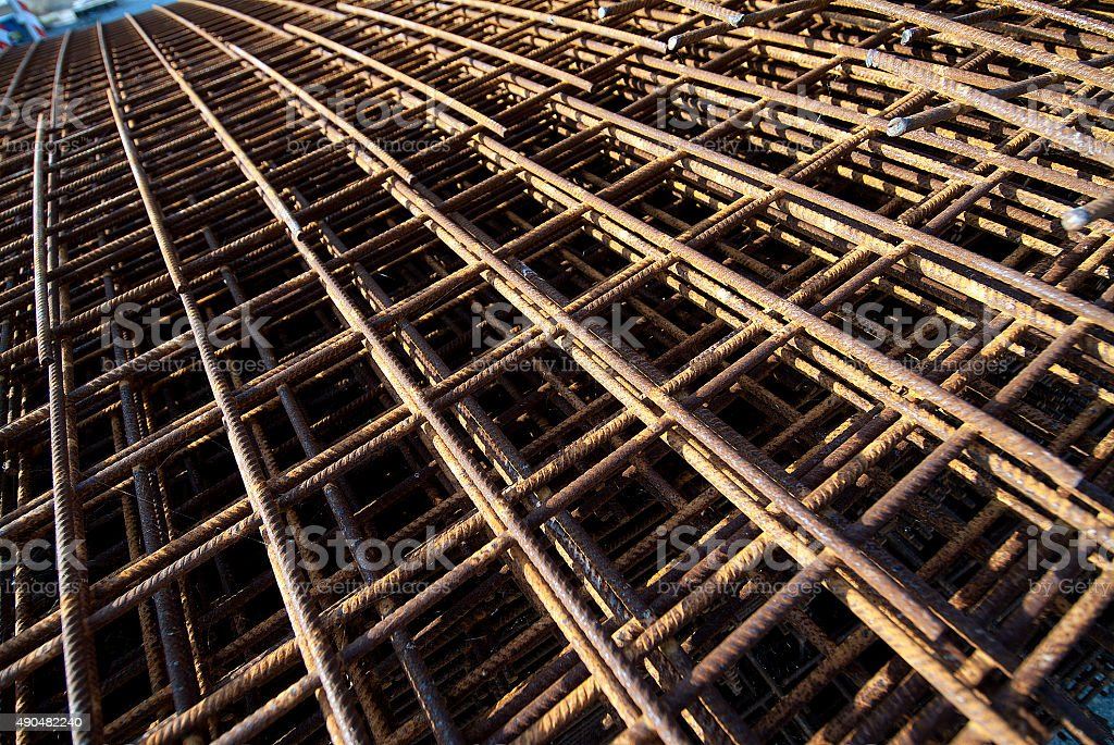 Rebar- Reinforcing Bar for building stock photo