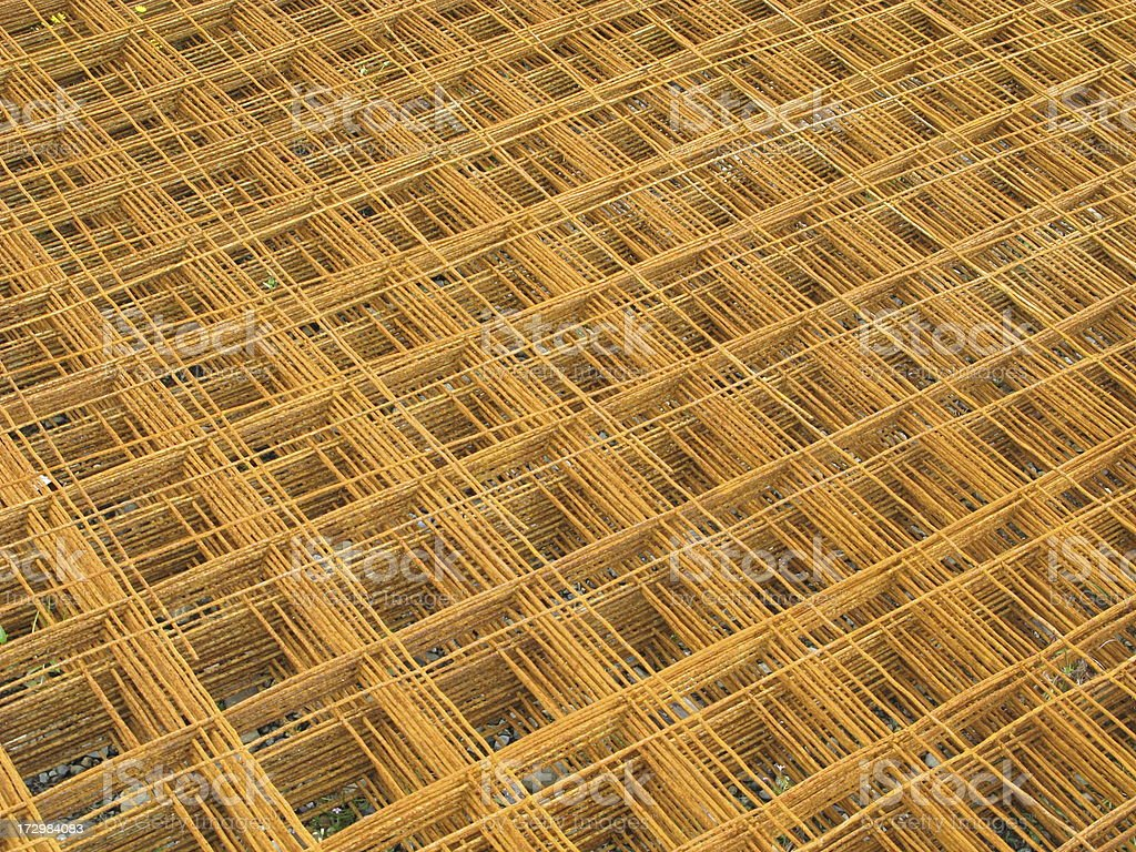 Rebar Reinforcing Wire Construction royalty-free stock photo