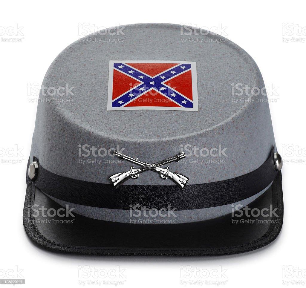 Rebel Civil War Hat on White stock photo
