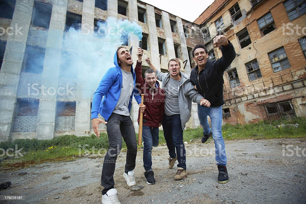 Rebel in ghetto stock photo