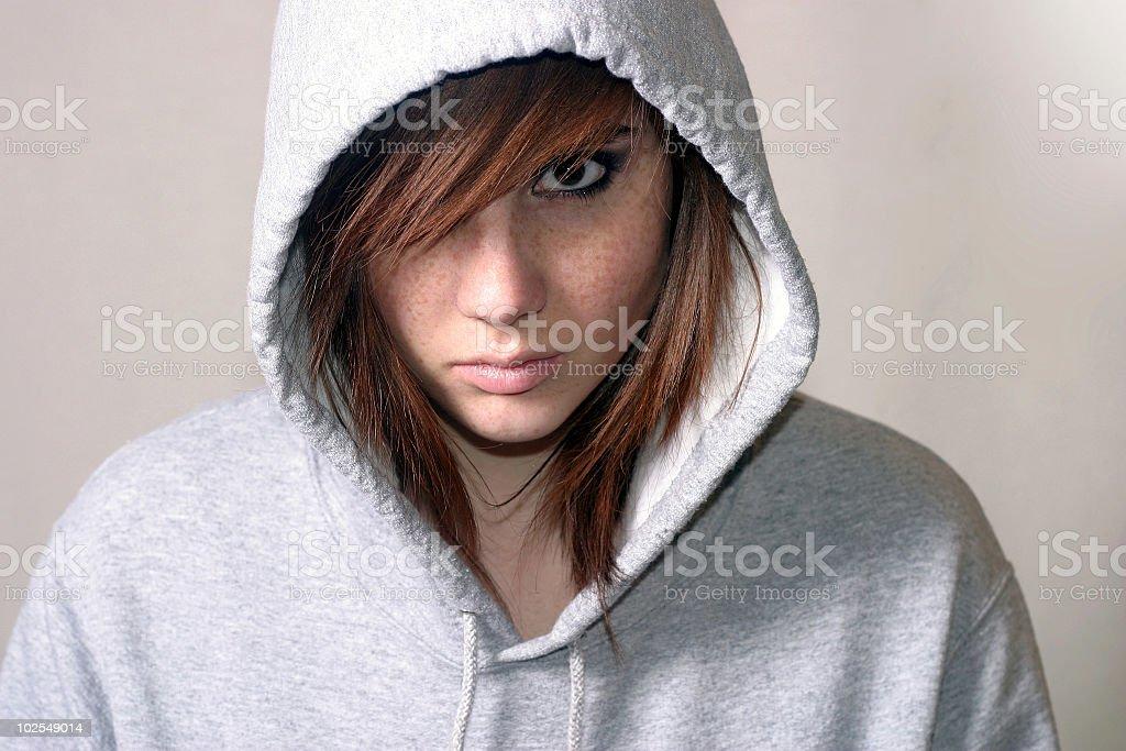 Rebel teenager royalty-free stock photo