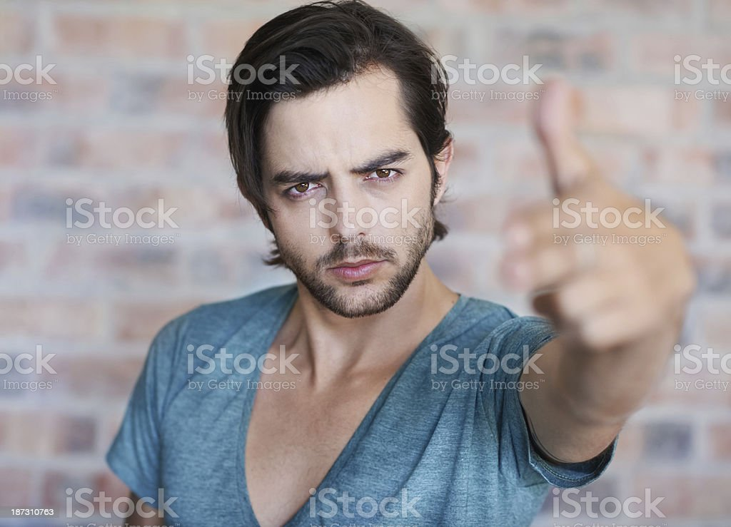 Rebel without a cause royalty-free stock photo
