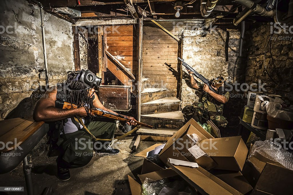 Rebellions fighting for freedom stock photo