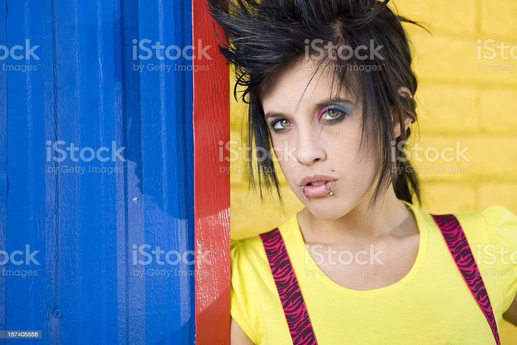 Rebellious Teenager Portrait royalty-free stock photo