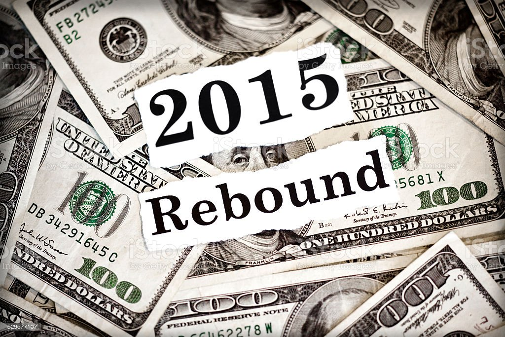 Rebound 2015 stock photo