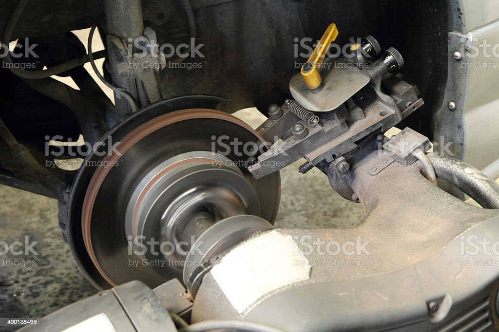 rebuild disc brake surface stock photo