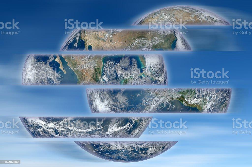 Rebuild the world - concept image stock photo