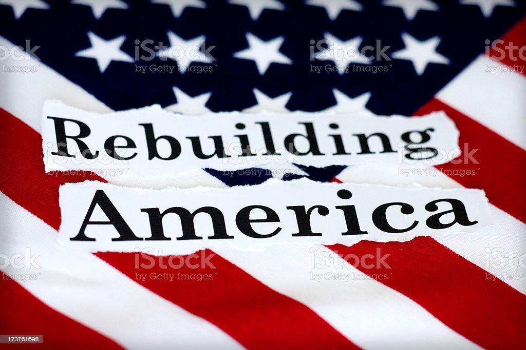 rebuilding America stock photo