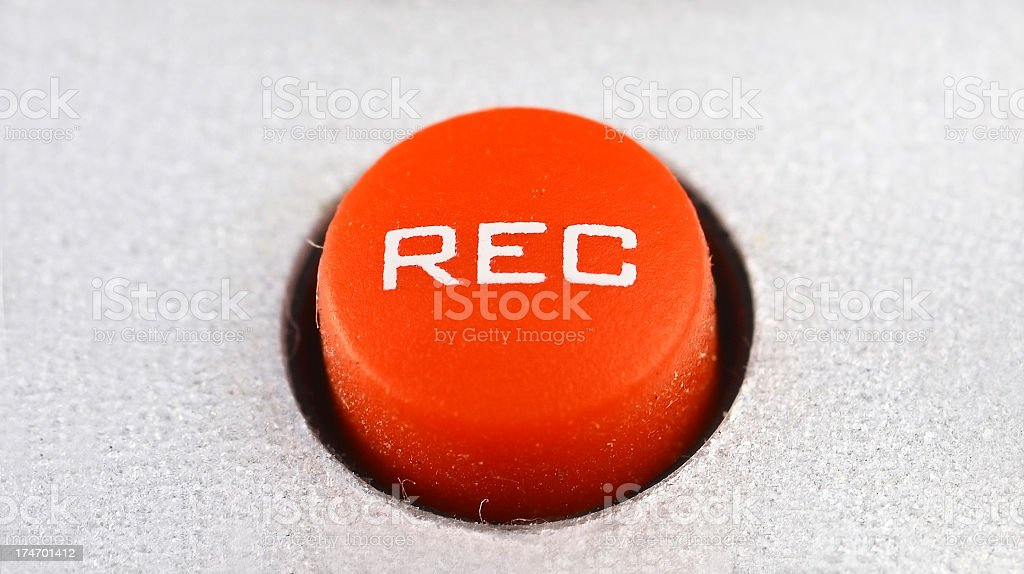 Rec button close up royalty-free stock photo