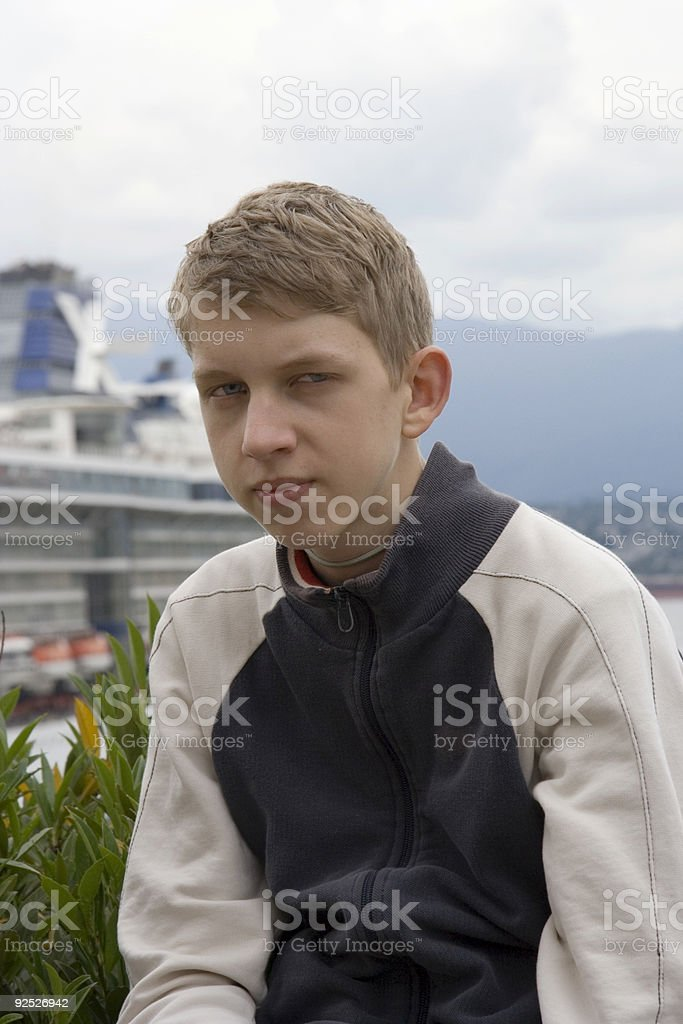 recalcitrant teenager or Mister Nice Guy royalty-free stock photo