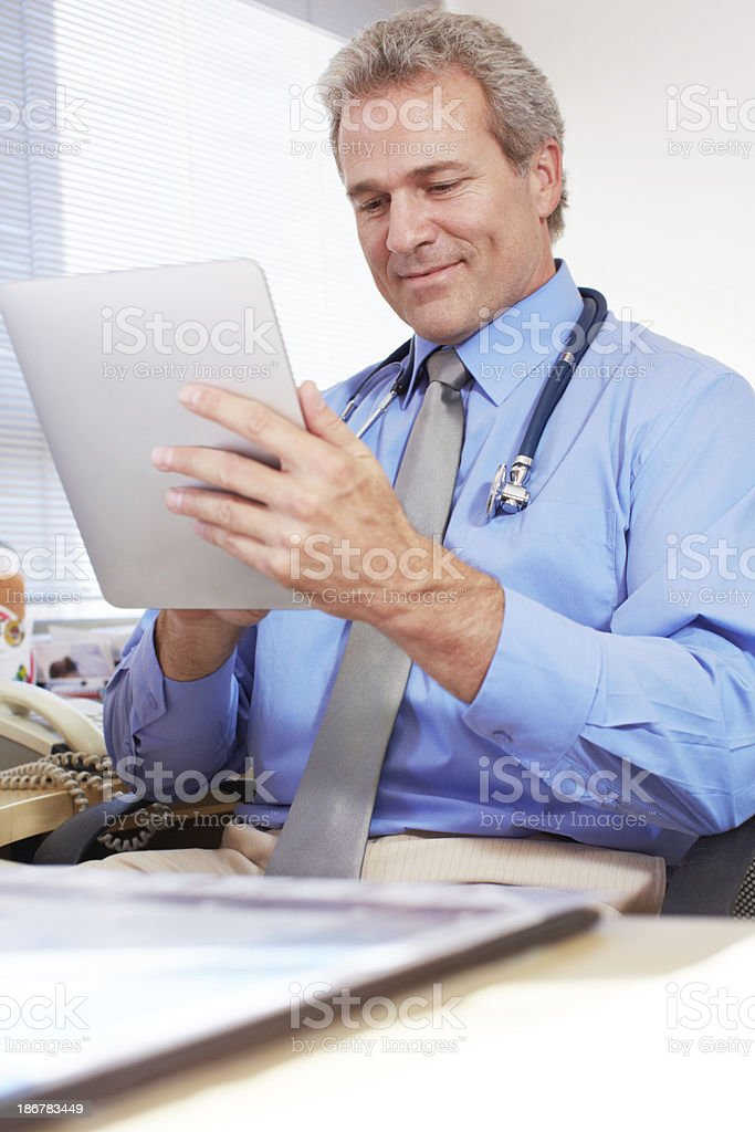 Recalling a patient's diagnosis reports royalty-free stock photo