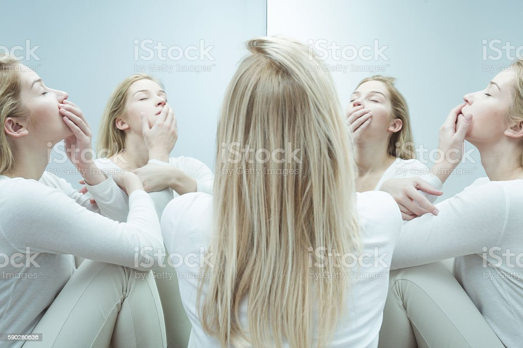 Recalling life before her breakdown stock photo
