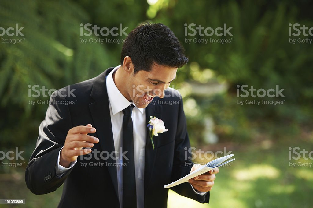 Recalling the funny memories stock photo
