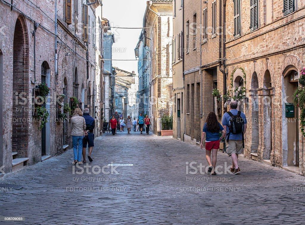 Recanati, Marche, Italia stock photo