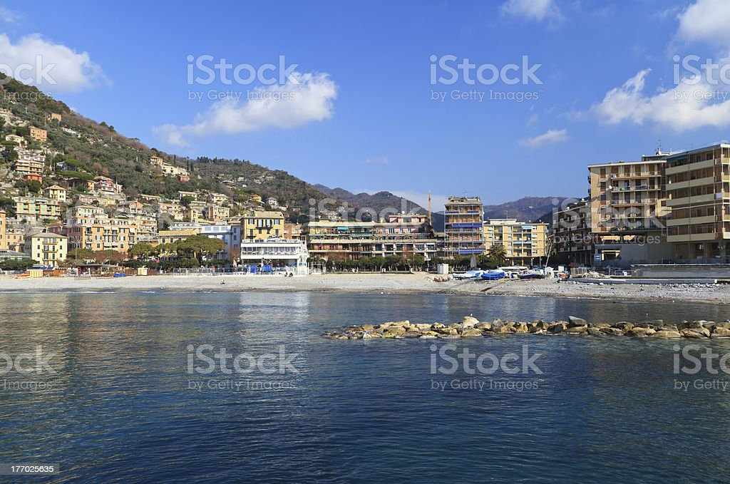 Recco waterfront, Italy royalty-free stock photo