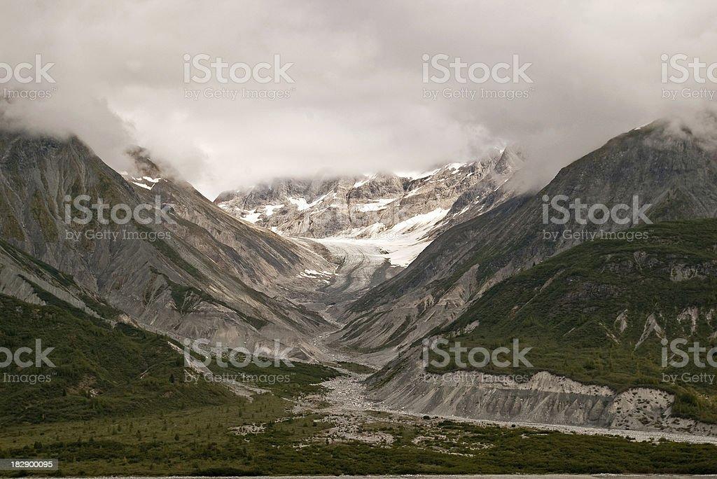 Receding Glacier stock photo