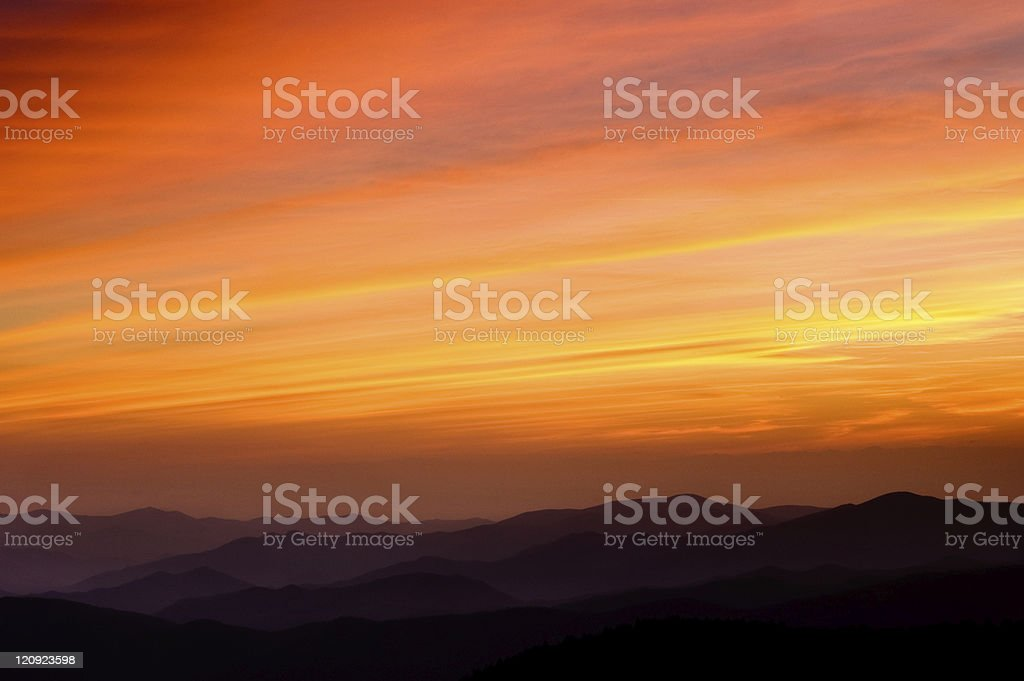 Receding mountain range. royalty-free stock photo