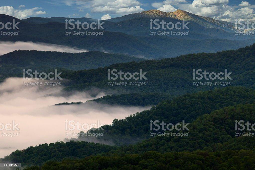 Receding Mountainsides royalty-free stock photo