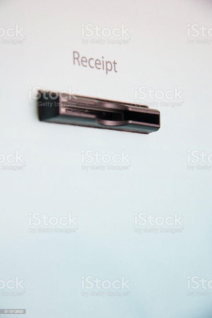 ATM Receipt Slot stock photo