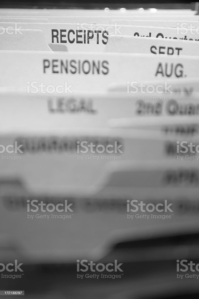 receipts file dividers royalty-free stock photo