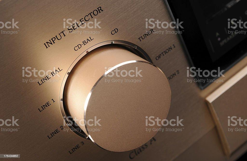 Receiver input selector stock photo