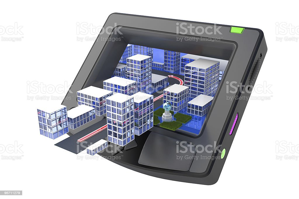GPS receiver royalty-free stock photo