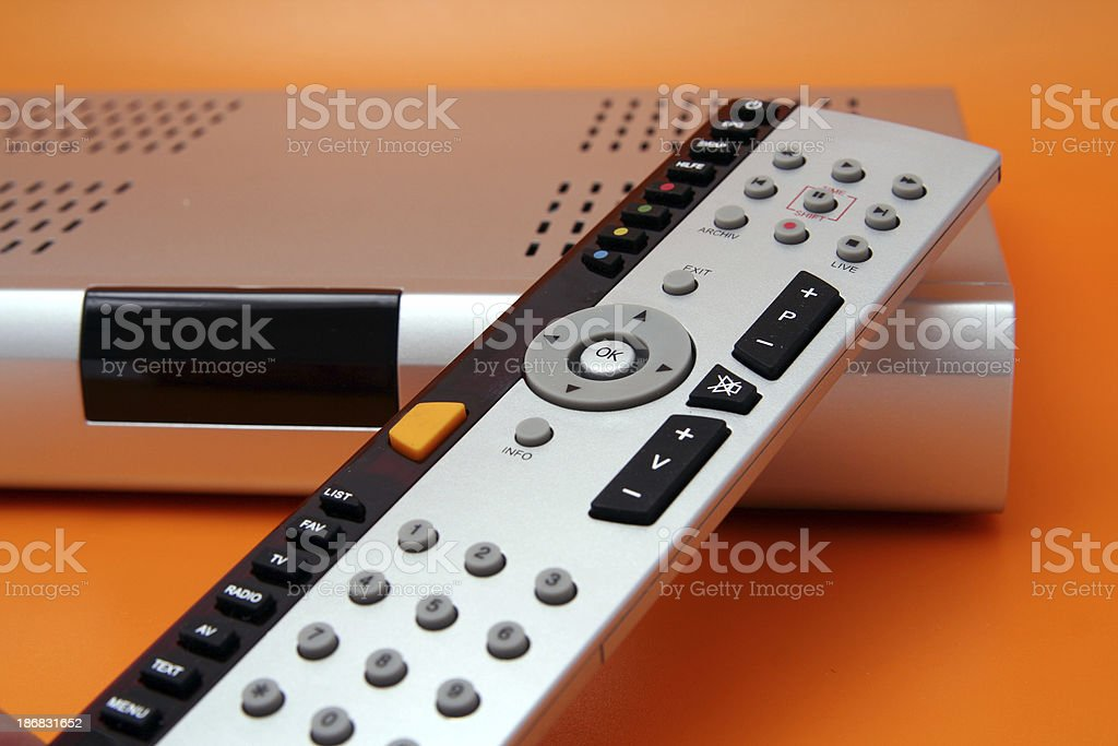 Receiver with remote control royalty-free stock photo
