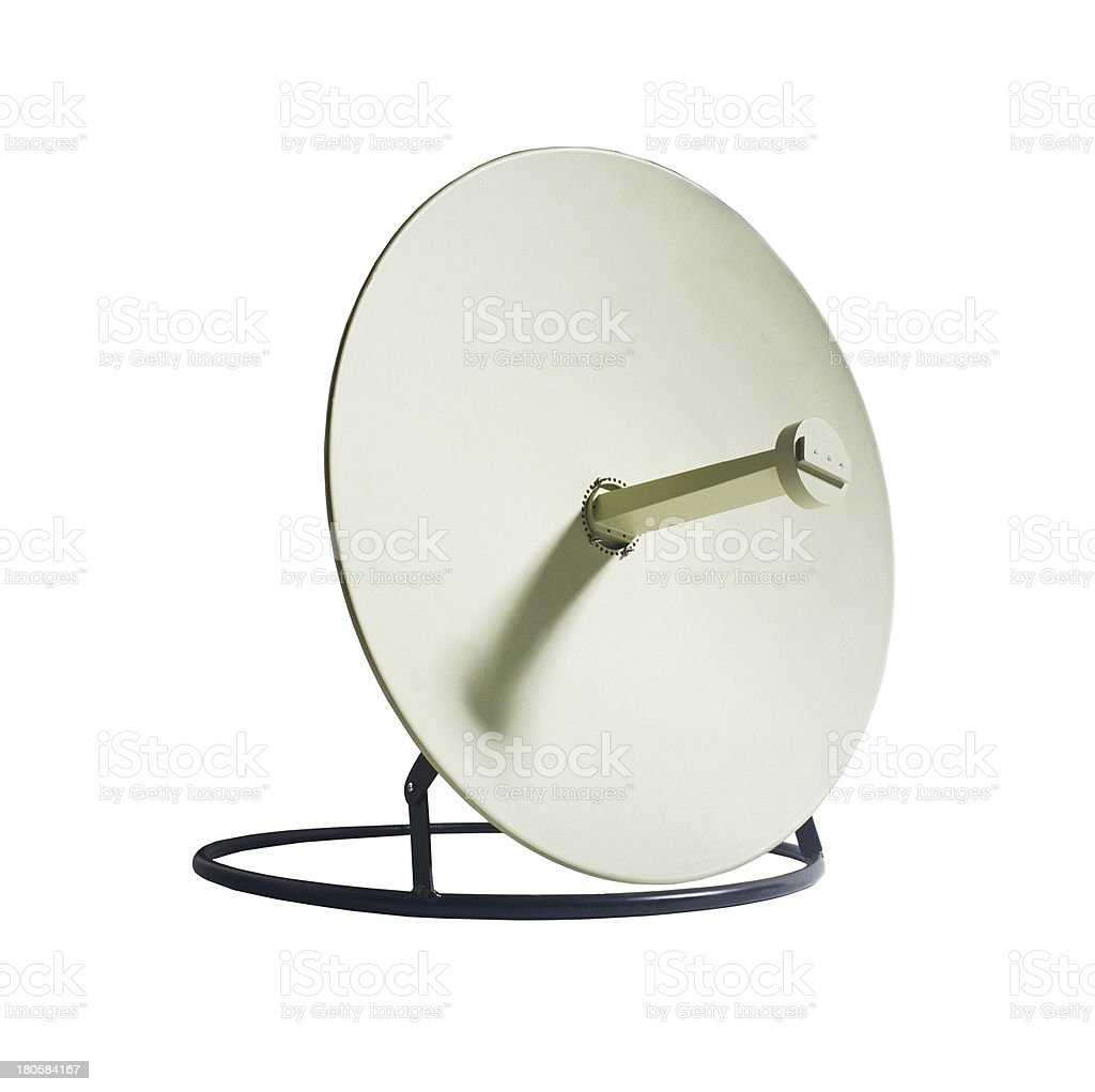 Receiver.Satelite dish isolated royalty-free stock photo