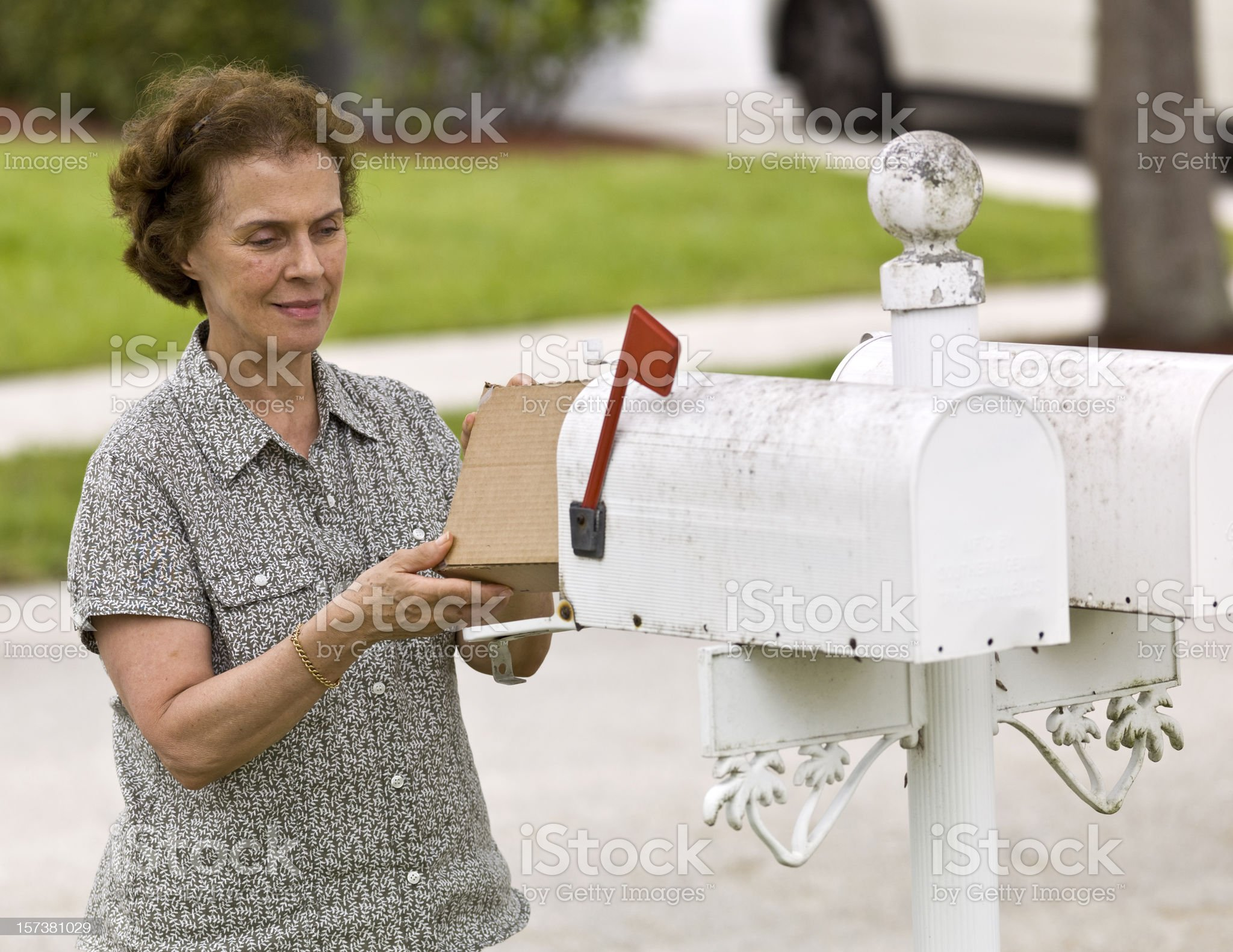 Receiving a package royalty-free stock photo