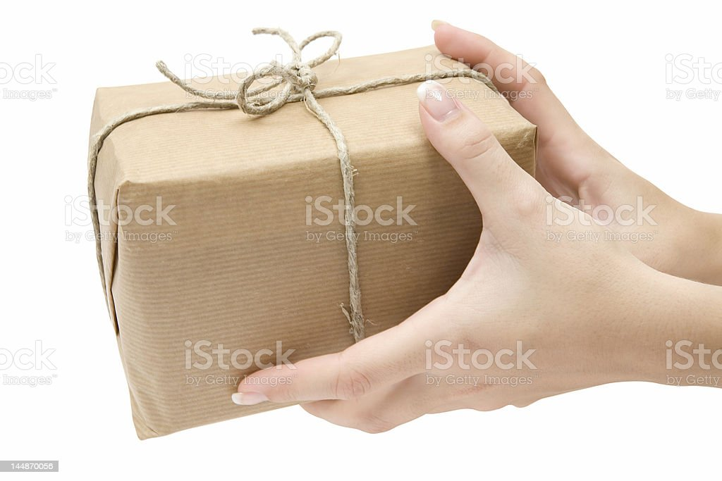Receiving a Parcel stock photo