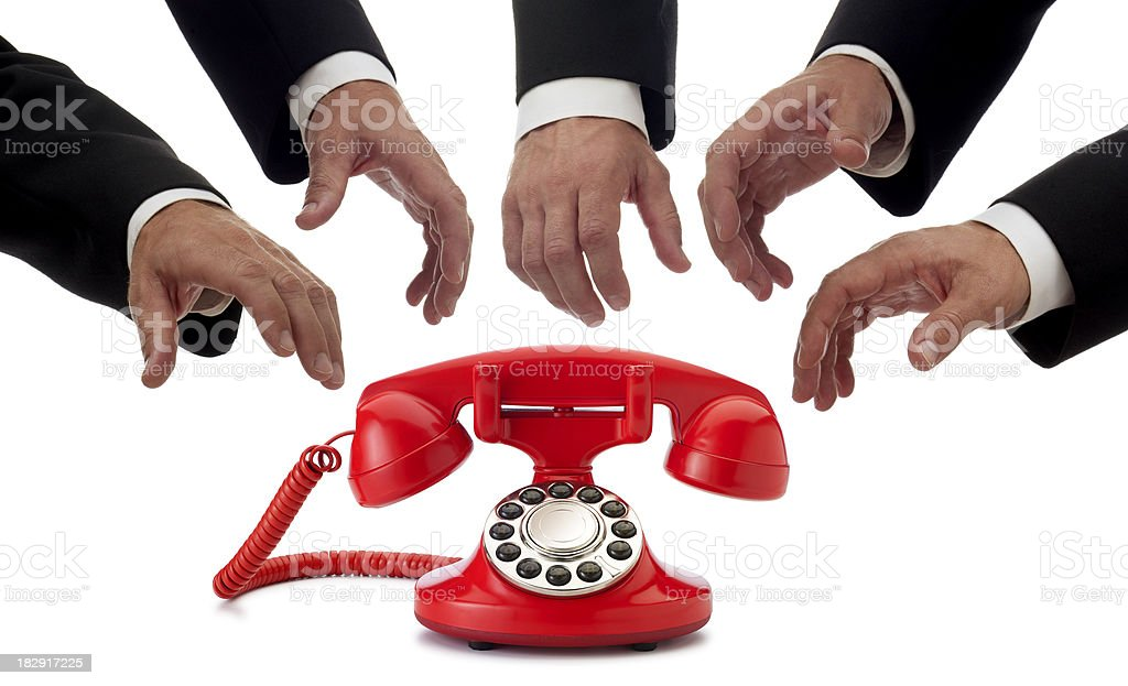 Receiving a Phone Call royalty-free stock photo