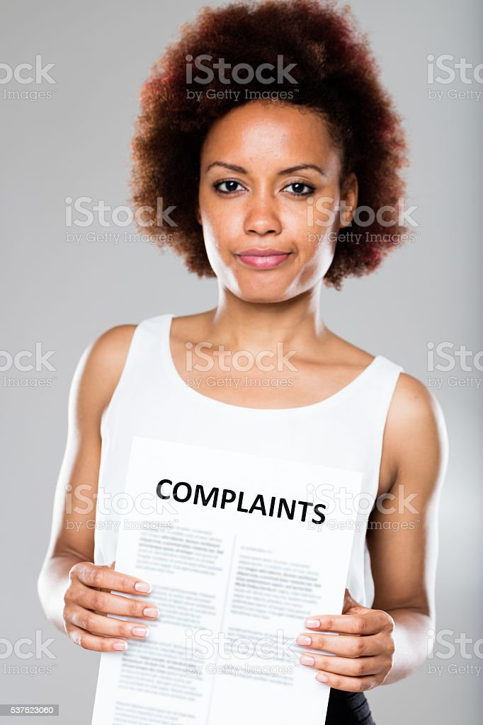 receiving another complaint means problems stock photo