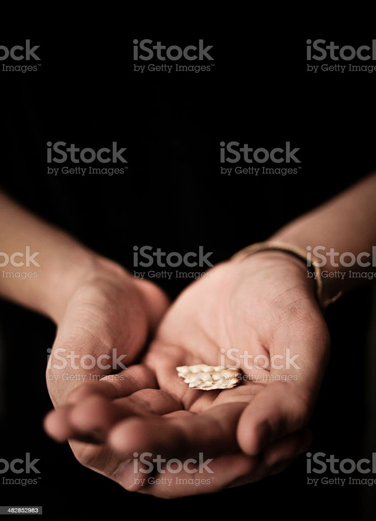 Receiving Communion stock photo