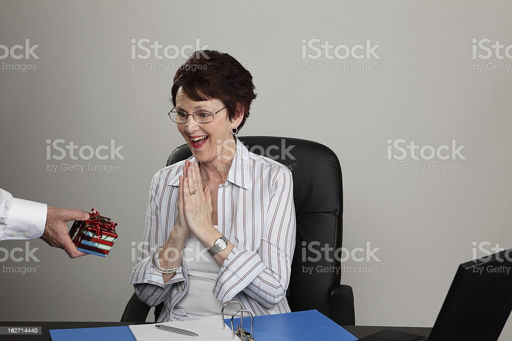 Receiving Gift royalty-free stock photo