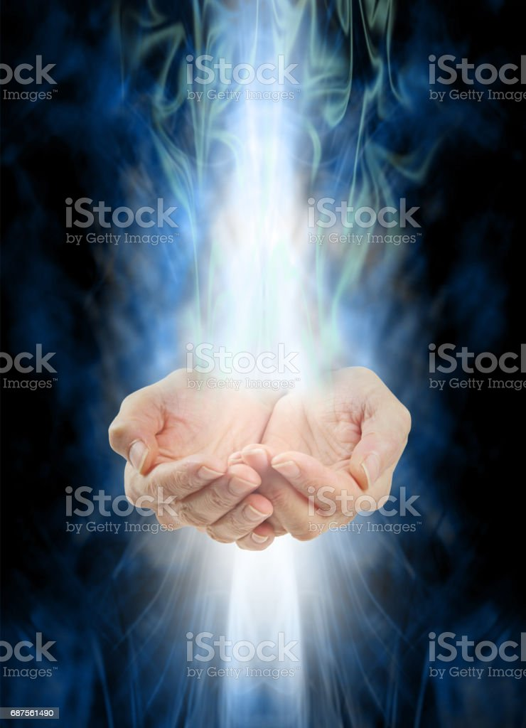 Receiving healing stock photo