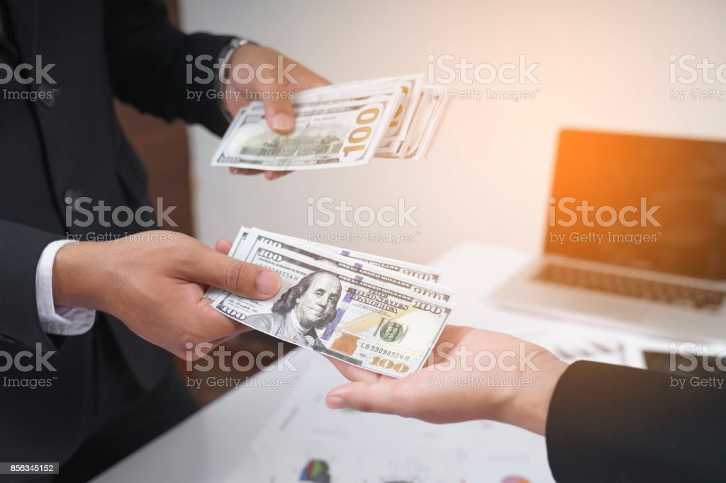 Receiving money Or other business expenses.