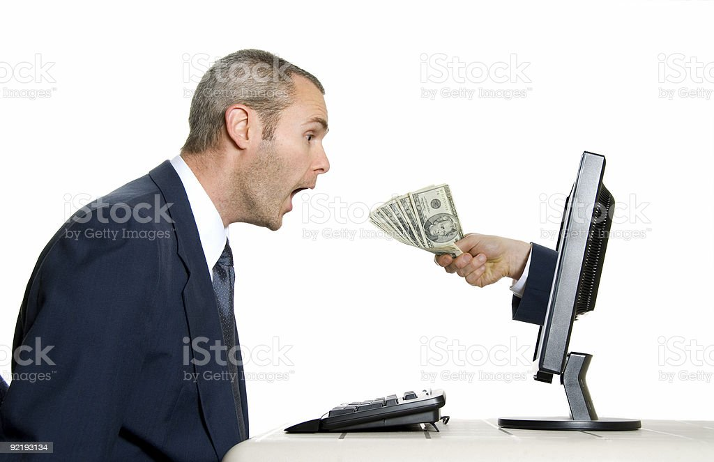 receiving money royalty-free stock photo